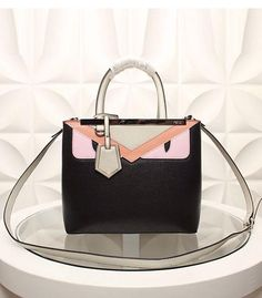 New Arrival  Fendi Petite 2Jours Monster Satchel Bag Replica Handbags 2314f02164a41