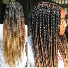 22 Inches 6 Packs Crochet Box Braids, 22 strands/pack, Usually 6 Packs can be full a head. 4 colors optional, box braids mediuim brown and black. Ombre Box Braids, Short Box Braids, Blonde Box Braids, Braids Wig, Braids For Black Hair, Twist Braids, Medium Box Braids, Medium Hair, Ombre Hair