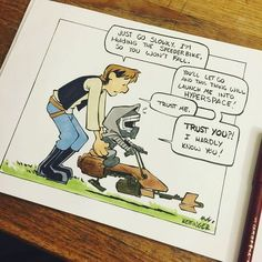 Disney Illustrator Combines Star Wars And Calvin & Hobbes, And The Result Is Adorable Disney Illustrator Combines Star Wars And Calvin & Hobbes, And The Result Is Adorable Star Wars Comics, Star Wars Cartoon, Star Wars Fan Art, Star Wars Quotes, Star Wars Humor, Star Wars Rebels, Citations Star Wars, Star Wars Karikatur, Calvin Et Hobbes