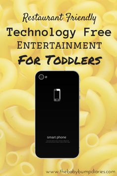 Restaurant Friendly: Technology Free Entertainment For Toddlers