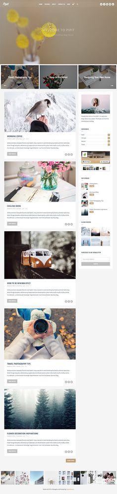 Pipit - A Responsive WordPress Blog Theme  #Wordpress #theme #Magazine #Blog
