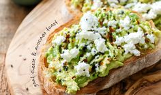Goat cheese + red pepper flakes + sea salt + avocado toast
