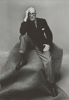 Le Corbusier photographed by Irving Penn, 1947, New York.