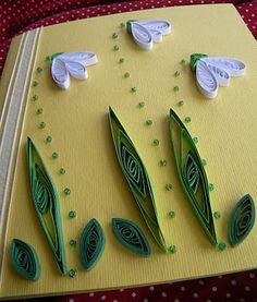 Quilling by Anca Milchis: Galanthus nivalis