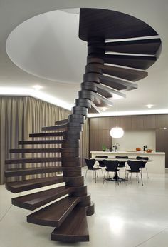 due to the various acoustic, thermal, and weather resistant advantages of brick, dieter de vos architecten has developed the 'triple brick arch house'. Interior Stairs, Interior Exterior, Interior Architecture, Amazing Architecture, Arch House, House Stairs, Escalier Design, Modern Stairs, Stair Steps