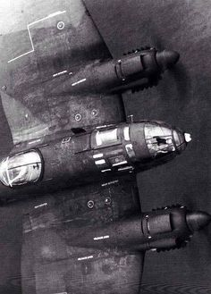 Very close up of a Heinkel 111.