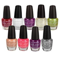 """L.A. Colors Art Deco Nail Polish, .25-oz. Bottles $1 PRODUCTS  """"#Beauty #Candy - #OriginalFunGifts """"#christmasdecorations #gifts #kitchen #fun #office #collectables #toys #lighting #food #brands#save4save  #flowers #beauty #linkinprofile #birthday #party #unique #uglyxmassweaters #Health #HomeFragrance #ChristmasHomeDecor #ChristmasOrnaments #ChristmasTrees #Health #HolidayFigurines #Outdoor Decor  #cleaning #seasons #homedecorations #tabledecor #Christmasgreetingcards """""""