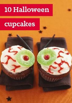 10 Halloween cupcakes – From creepy to creepier, they provide just the right sweet surprise that the holiday calls for.