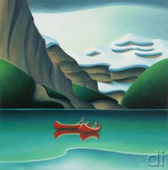 Scarlet and Emerald Dana Irving Canadian Artists, Canadian Painters, Landscape Art, Landscape Paintings, Watercolor Illustration, Painting Inspiration, Art Pictures, Art Lessons, Art Decor
