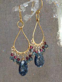 Gold Vermeil Chandelier Earrings with by MustardSeedTreasures, $66.00