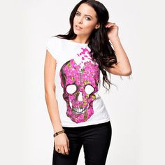 Women summer skul... has just been added to our store. Get it here while still available http://everythingskull.com/products/women-summer-skull-t-shirt-cool-rock-roll-t-shirts-fashion-t-shirt-novelty-tee-xs-xxl-free-shipping