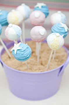 ocean themed cake pops | saving the world one bit[e] at a time - ocean-themed cake pops.
