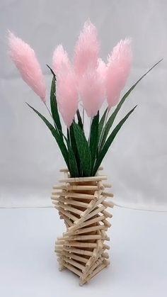 Paper Flowers Craft, Flower Crafts, Diy Flowers, Paper Crafts, Flower Diy, Origami Flowers, Fabric Flowers, Flower Making Crafts, Flower Bouquet Diy