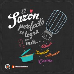 #Frases de #Cocina @LeCreusetMexico ¡Si te gustó comparte! Chef Quotes, Foodie Quotes, Kitchen Quotes, Kitchen Art, Chalkboard, Lettering, Words, Inspiration, Wide Leg