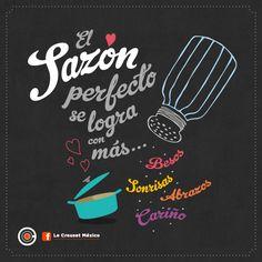 #Frases de #Cocina @LeCreusetMexico ¡Si te gustó comparte! | https://lomejordelaweb.e