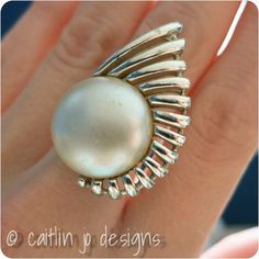 Vintage Sarah Coventry Brooch turned Ring by caitlinjodesigns, $20.00