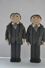 Gay Wedding Cake Toppers - 2 Grooms Cake Topper Civil Partnership