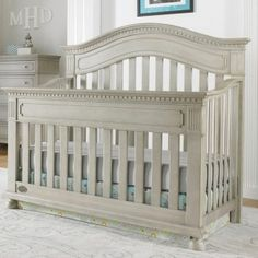 Naples Arched Convertible Crib In Grey Satin and Nursery Necessities in Interior Design Guide : All Baby Cribs at PoshTots Baby Boy Rooms, Baby Boy Nurseries, Baby Cribs, Baby Boys, Kids Boys, Naples, Nursery Furniture Sets, Kids Furniture, Nursery Ideas