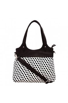 Borsavela Polka Dots Handle Bag : With a beautiful print and mustard handle, this Borsavela bag will add color and edge to your look. The bag has 1 detchable strap, 1 compartment, 2 zipper pockets and 1 mobile pocket..