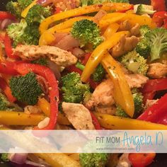 Mexican Chicken Stir Fry Skillet. Very good. Jake and I both liked. Served it over rice. Added extra seasoning when cooking the chicken. Also add some garlic salt. Ate with a little sour cream and salsa.