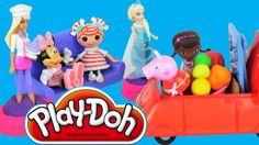 Peppa Pig Frozen toys video Play Doh Pizza Barbie #peppapig #playdoh #barbie #frozen #lalaoopsy