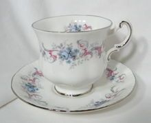 Paragon ROMANCE Patterned Teacup & Saucer Set