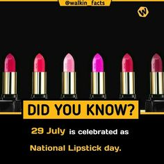 national lipstick day - All the Interesting Information You're Wondering Here Amazing Science Facts, Some Amazing Facts, True Interesting Facts, Interesting Facts About World, Intresting Facts, Unbelievable Facts, Interesting Information, Wierd Facts, Wow Facts