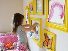 Deko fürs Kinderzimmer können Sie auch ganz einfach selbst gestalten und mit Ihren Kleinen umsetzen. #deko #wandgestaltung #diy #bilder #kreativität