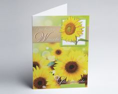 #Grusskarte #Sonnenblumen