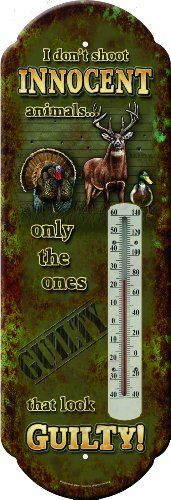 Rivers Edge Products Innocent Animals Tin Thermometer ** Read more reviews of the product by visiting the link on the image. (This is an affiliate link and I receive a commission for the sales)