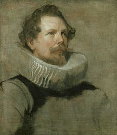 Anthony Van Dyck Drawings | Anthony van Dyck - 'Head of a bearded Man wearing a Wheel Ruff ...