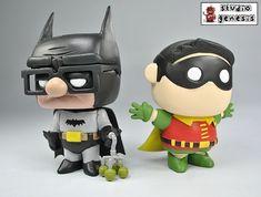 Batman and Robin Carl and Russel (Funko Pop! Custom Pop Vinyl, Custom Funko Pop, Funko Pop Vinyl, Funko Pop Dolls, Funko Pop Figures, Pop Vinyl Figures, Pop Figurine, Disney Pop, Pop Toys