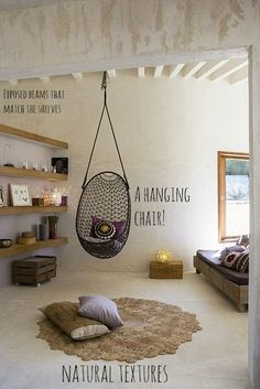 pod chair neutral natural bedroom organic