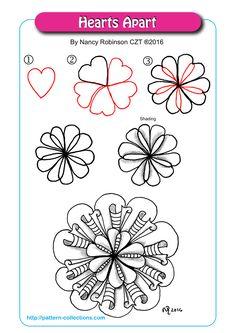 Hearts Apart tangle pattern by Nancy Robinson