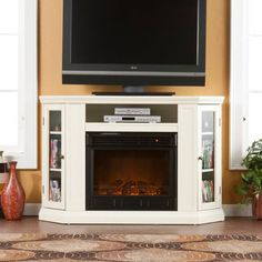 Dimplex Bailey Glass Ember Electric Fireplace Media Console ...
