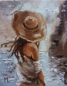 Monika Luniak - Paintings for Sale Monochromatic Paintings, Modern Art Paintings, Paintings For Sale, Indian Paintings, Oil Paintings, Landscape Paintings, Oil Painting Abstract, Abstract Art, Painting Art