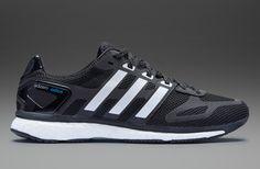 adidas Adizero Adios Boost - Mens Running Shoes - Black-Running White-Solar Blue