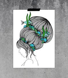 """Illustration """"Flygfiskar"""" Designer: Hanna Karlzon"""
