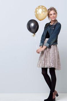 Metallic Tulle Skirt - Anthropologie.com - love this skirt, with a little shell