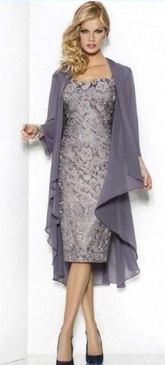 Mother Of The Bride Lace Over Satin Sheath Dress With Cap Sleeves