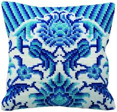 A truly remarkable chunky cross stitch pattern that is bursting with colour and detail; just picture this finished cushion on your sofa.