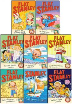 Flat Stanley Collection 8 Books Set Pack by Jeff Brown  #Book #ChildrensBook #FlatStanley #Children  http://www.snazal.com/flat-stanley-collection-8-books-set-pack--DEALMAN-U11-FlatStanley-8bks.html