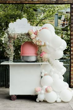 Taste's like heaven! Photo: Evergreen Brick Works Wedding Events, Wedding Day, Balloon Installation, Love Balloon, Floral Arch, Event Services, Wedding Balloons, Chapel Wedding, May Flowers