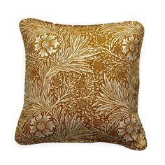 William Morris Marigold Arts and Crafts golden by leahrosedesigns