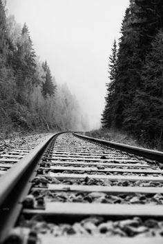 Black and white train tracks. Winter Photography, Landscape Photography, Nature Photography, Travel Photography, Photography Backgrounds, London Photography, Photography Ideas, Foto Nature, Foto Art