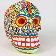 Mexico CIty Paper Mache Skulls, Medium