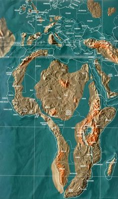 The Shocking Doomsday Maps Of The World And The Billionaire Escape Plans - Future map of Africa by Gordon Scallion - Ancient Aliens, Ancient History, History Medieval, Ley Lines, Escape Plan, Africa Map, Fantasy Map, Historical Maps, Ancient Mysteries