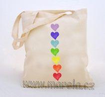 Marela - Taška - čakrová srdíčka | Originální těhotenská móda Chakras, Ms, Tote Bag, Chakra, Totes, Tote Bags