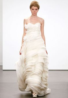 Vera Wang's Classic Fall 2013 Bridal Collection, Wedding Dress Vera Wang Wedding Gowns, Fall Wedding Gowns, Designer Wedding Dresses, Wedding Attire, Bridal Gowns, Ellie Saab, Claire Pettibone, Bridal Collection, Dress Collection