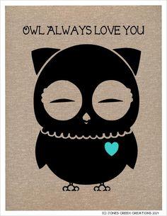 Free Valentine Owl Prints